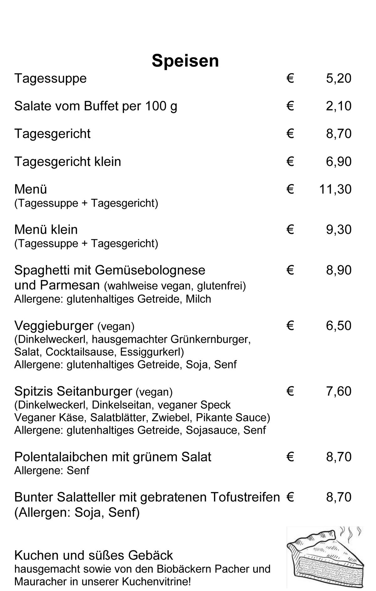 Speisekarte Spitzwegerich Leibnitz - Seite 2